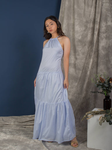 Blue Ice Melt Halter Neck Maxi Dress - Dresses - Whispers & Anarchy - Naiise