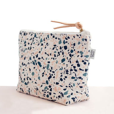 Blue Peach I Terrazzo Cosmetic Bag - Cosmetic Bags - 5mm Paper - Naiise