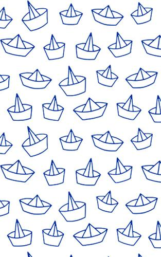 Blue Sail Boats Wrapping Paper Wrapping Papers Fevrier Designs