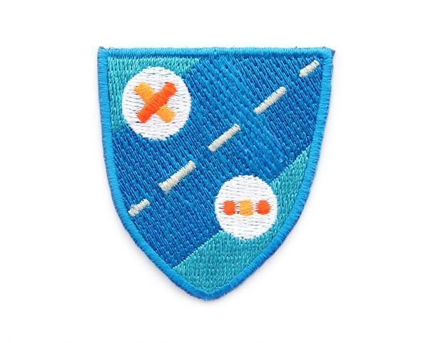 Blue Shield Iron On Patch - Iron On Patches - Mokuyobi Threads - Naiise