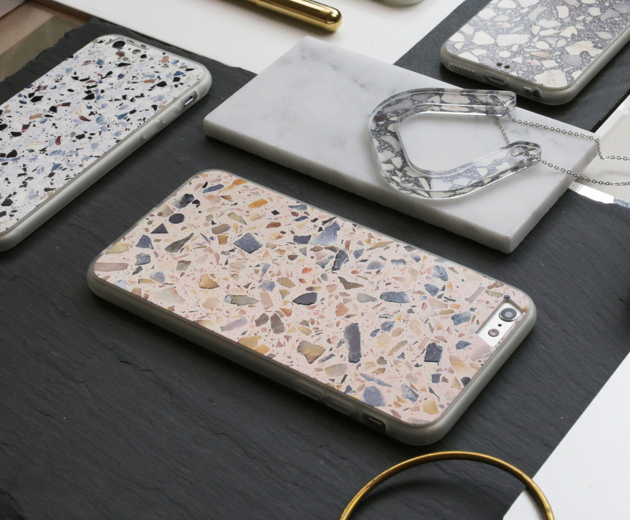 Blush Terrazzo iPhone Case - iPhone 6s Plus - Phone Cases - FormMaker - Naiise