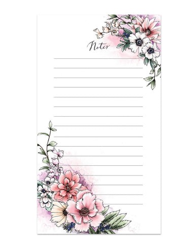 Blushing Blossoms Notepad Notepads Typoflora