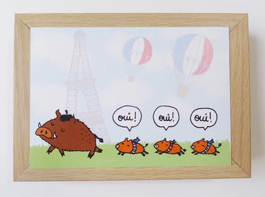 Boars - French Boars Oui Postcard Postcards Steak & Eggs Please