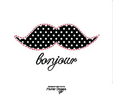 Bonjour Moustache Card - Generic Greeting Cards - Fevrier Designs - Naiise