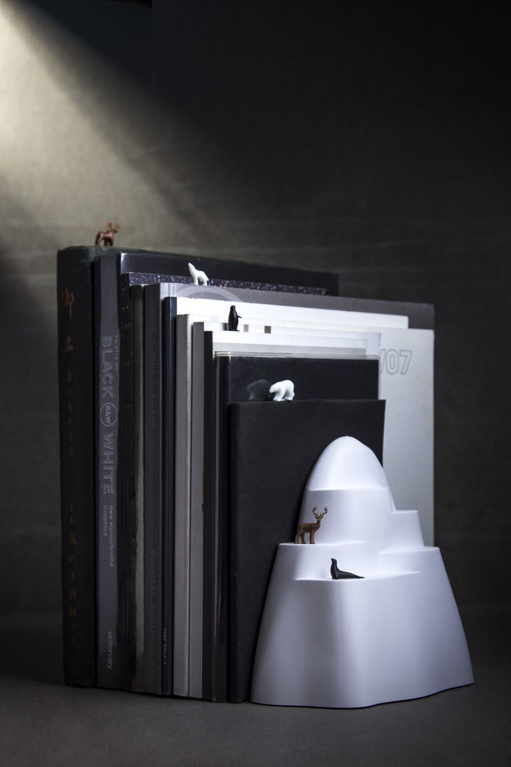 Book Iceberg Bookend and Bookmarks Home Organisation Qualy