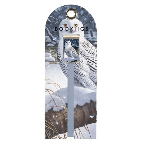 Bookjig bookmark - Northern Wildlife Bookmarks Franklin Mill Snow Owl