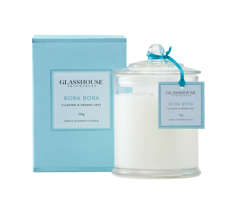 Bora Bora Candle Scented Candles Glasshouse
