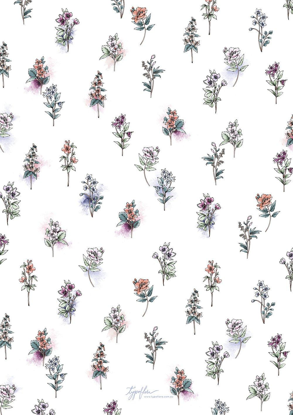 Botanical Garden Giftwrap Wrapping Papers Typoflora