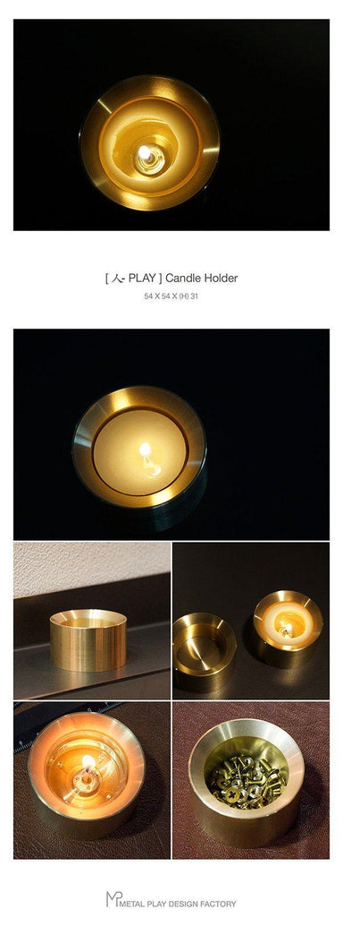 Brass Candle Holder - Tealight - Naiise