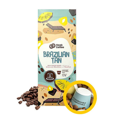 Brazilian Tan Shot Pods Coffee Hook Coffee
