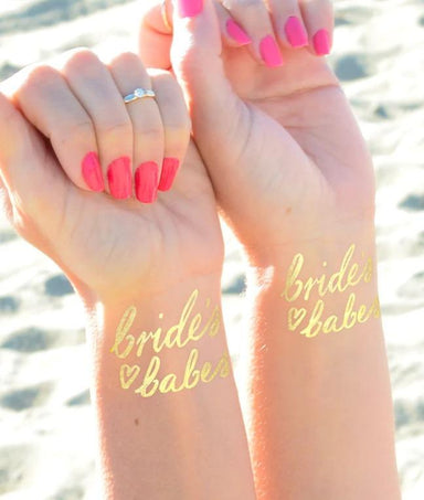 'Bride Babes' Bachelorette Tattoos Set of 12 - Temporary Tattoos - Daydream Prints - Naiise