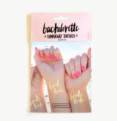 'Bride Tribe' Bachelorette Tattoos Set of 12 - Temporary Tattoos - Daydream Prints - Naiise