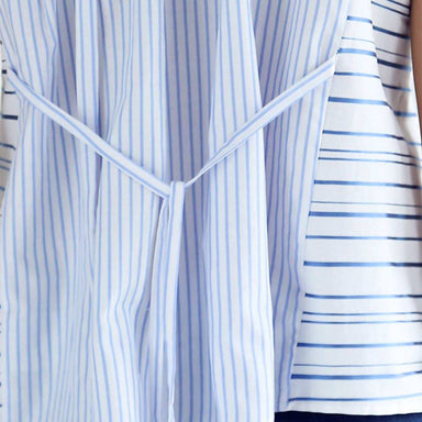 Brigante Multi Stripe Panel Placement Button-down Top Women's Tops Salient Label