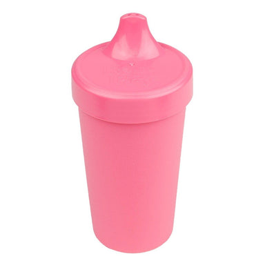 Bright Pink No-Spill Sippy Cup Children Cutlery Re-Play
