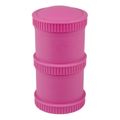 Bright Pink Snack Stack Set Children Cutlery Re-Play