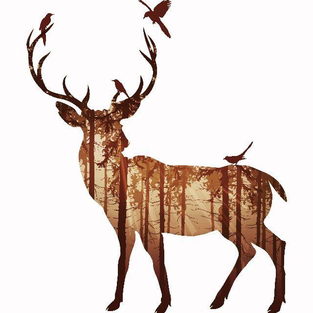 Brown Stag Canvas - Naiise