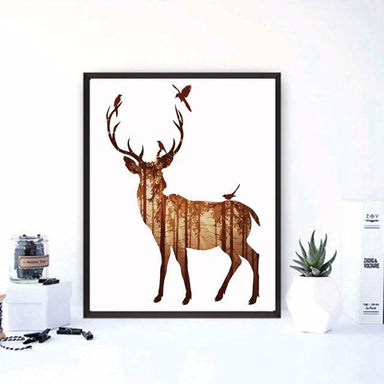 Brown Stag Canvas - Canvas Prints - Charlie and Skye - Naiise