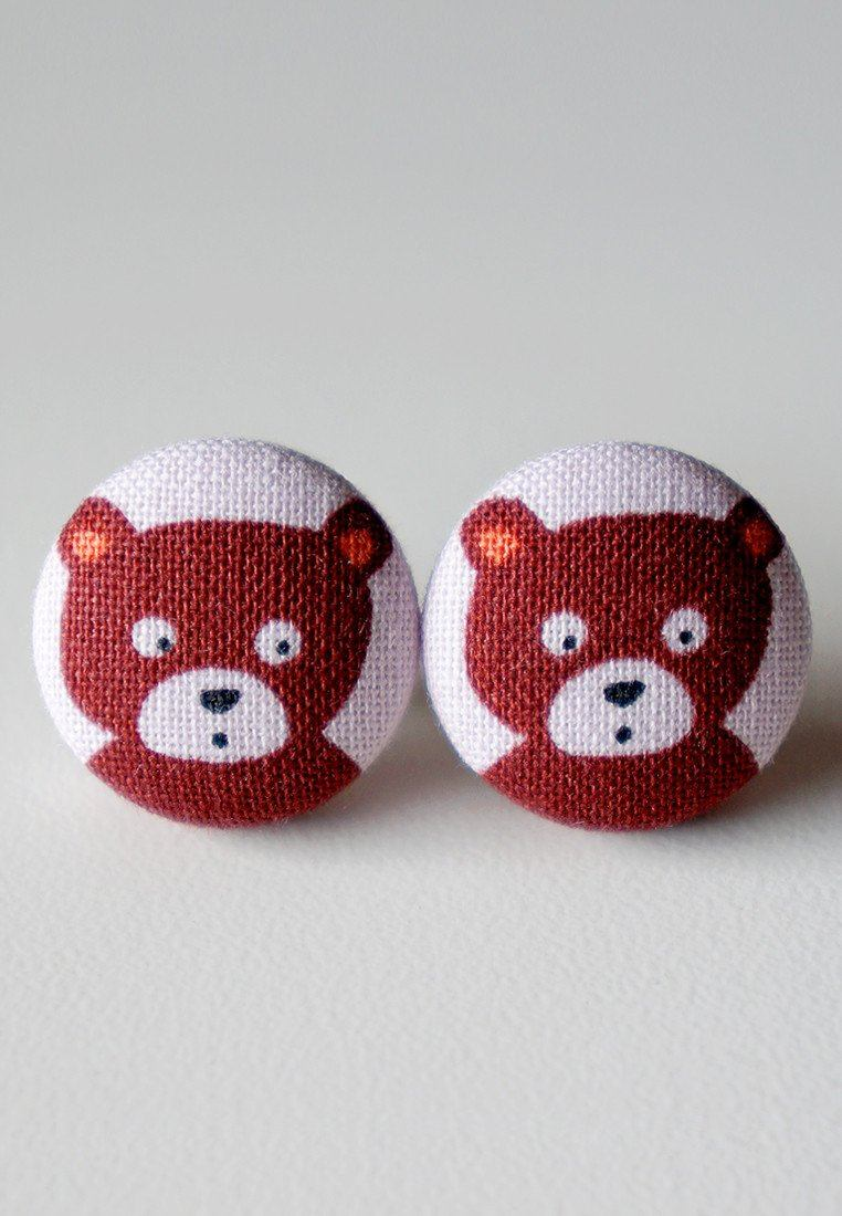 Bruno The Bear Stud Earrings Earrings Paperdaise Accessories