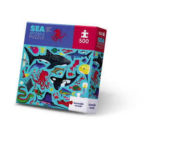 500-pc Boxed Puzzle - Sea Animals - Puzzles - The Children's Showcase - Naiise