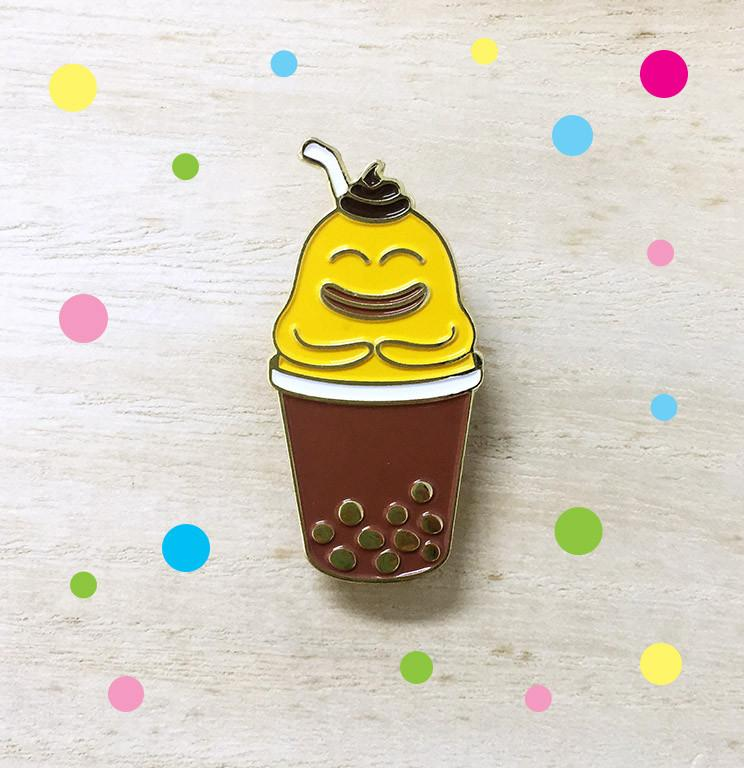 Bubble Tea Brooch - Pins - Wackymons - Naiise