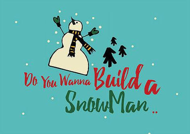 Build a Snowman Greeting Card Christmas Cards The Paper Happiness