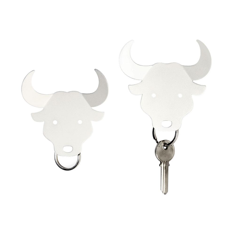 Bull, Deer and Moose Key Holder Key Holders Qualy Bull (White)