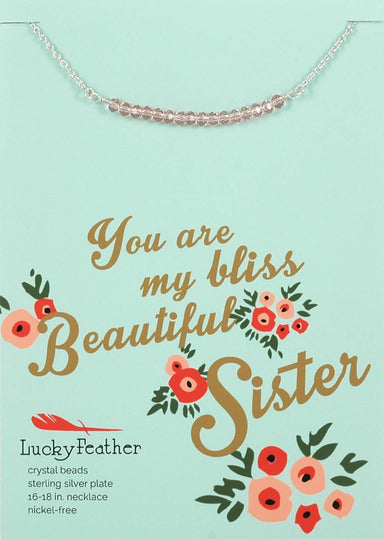 Lucky Feather - You Are My Bliss Beautiful Sister Necklace - Necklaces - The Planet Collection - Naiise