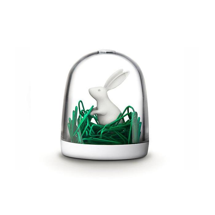 Bunny In The Field Paper Clip Holder Desk Organisation Qualy