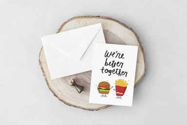 Burger Fries Card Love Cards YOUNIVERSE DESIGN