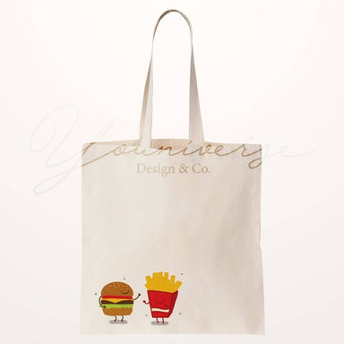 Burger Fries Totebag Tote Bags YOUNIVERSE DESIGN
