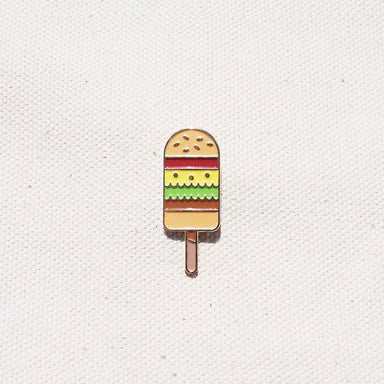 Burger Popsicle - Enamel Pin Pins Quirky Paper Co.