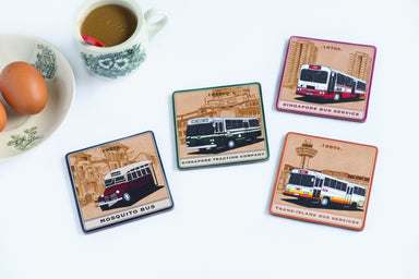 Buses Through the Years - Coaster Set - Local Coasters - Knackstop - Naiise