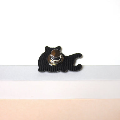 B/W Yoga Cat Pin - Pins - Purr Purr Papa - Naiise