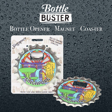 BOTTLE BUSTER - Best Bottle Opener : POP art SG - Bottle Openers - La Belle Collection - Naiise
