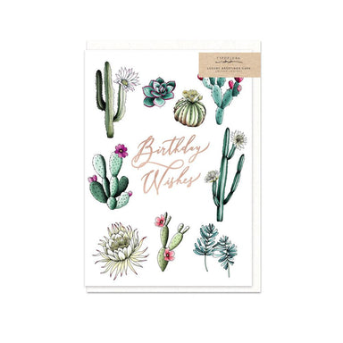 Cactus Birthday Wishes Card - Birthday Cards - Typoflora - Naiise