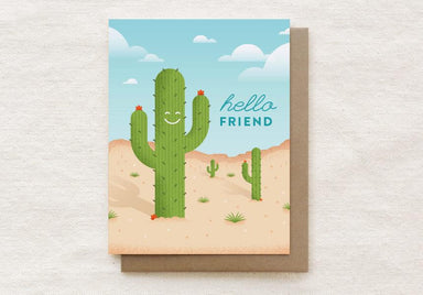 Cactus - Hello Friend - Everyday Greeting Card Generic Greeting Cards Quirky Paper Co.