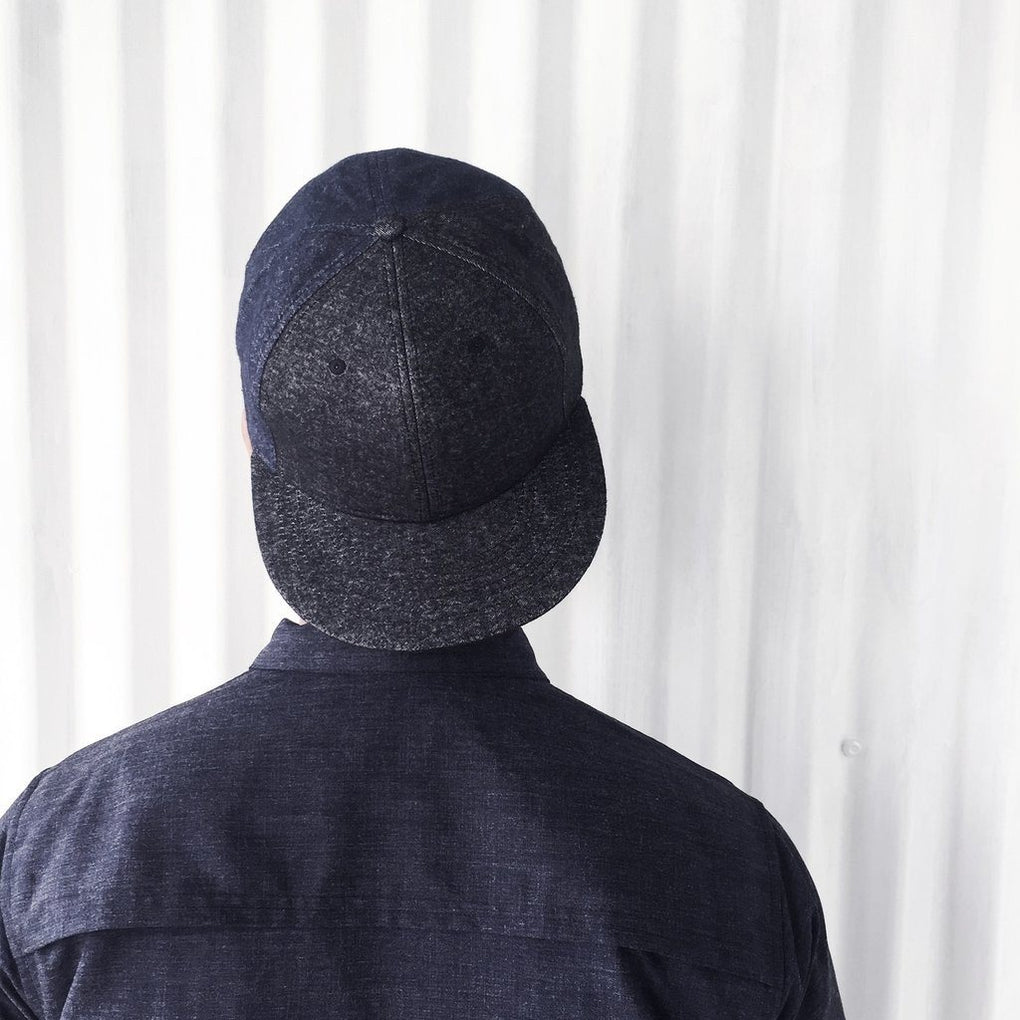 Cadman Cap - NAVY BLACK DENIM Caps Caveman