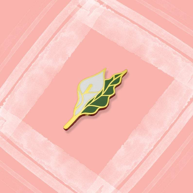 Calla Lily Hard Enamel Pin Pins The Fox Knows