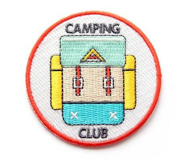 Camping Club Iron On Patch - Iron On Patches - Mokuyobi Threads - Naiise