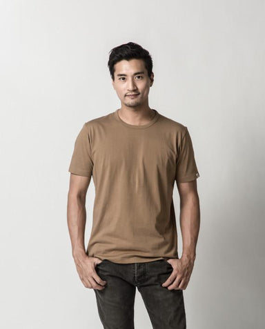 Canvas Brown Signature Tee ATSS1505 - Men's T-shirts - Cut & Paste - Naiise