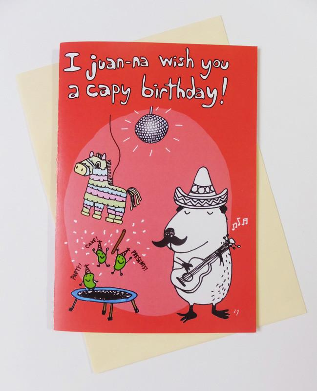 Capybara - Mexican Happy Birthday Card - Birthday Cards - Steak & Eggs Please - Naiise