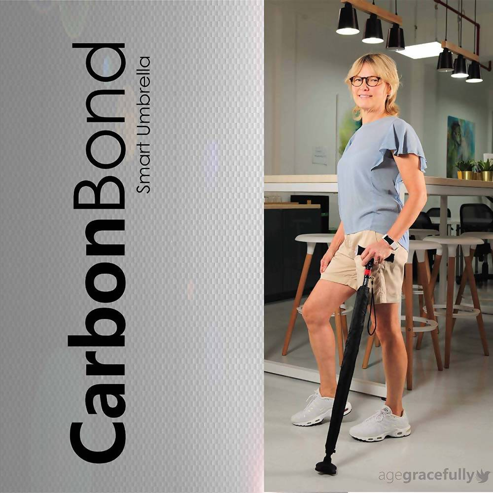 CarbonBond (Smart Umbrella Walking Stick/ Cane/ Aid) Walking Canes Agegracefully