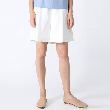 Castro Pleated Shorts in White - Women's Shorts - Salient Label - Naiise