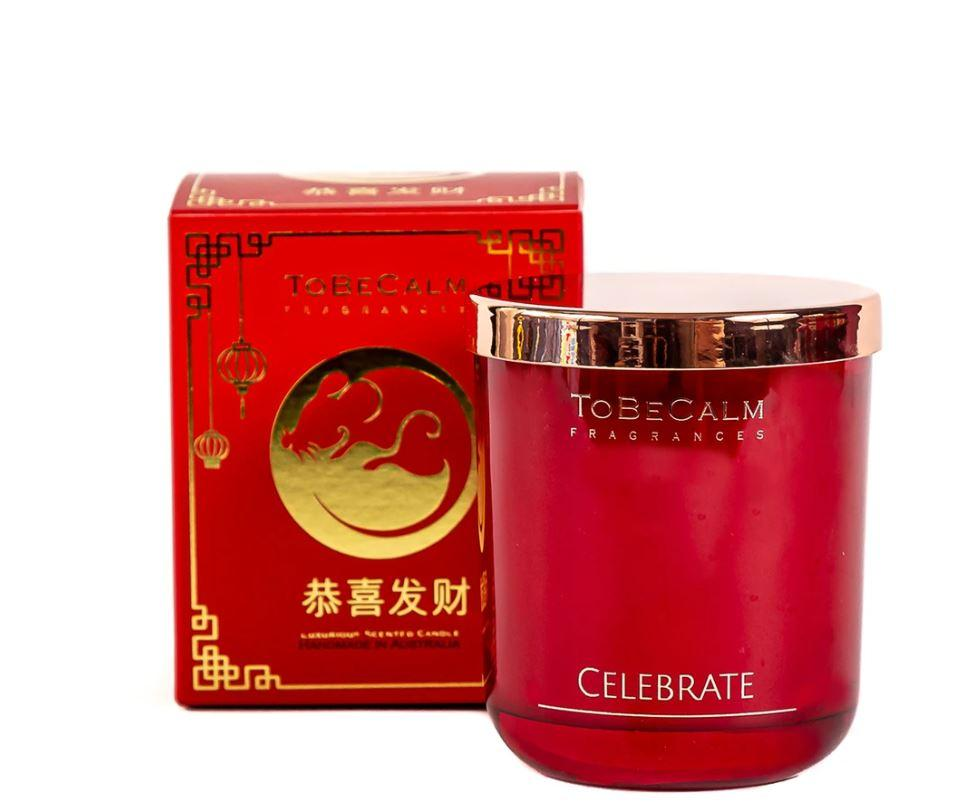 Celebrate CNY - Shanghai Blossom - Medium Soy Candle Scented Candles To Be Calm