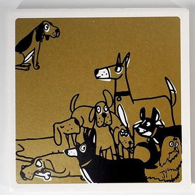 Ceramic Coasters (Set of 2) Coasters The Animal Project Dogs