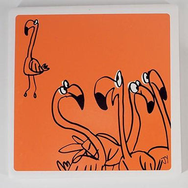 Ceramic Coasters (Set of 2) Coasters The Animal Project Flamingo