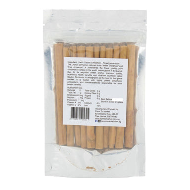 Ceylon Cinnamon Sticks - Finest Grade - Spices and Condiments - Farm To Market - Naiise