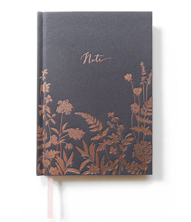 Charcoal wildflowers Notebook Notebooks Typoflora