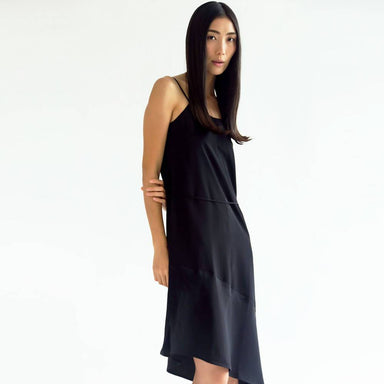 Chasin Asymmetric Slip Dress in Black - Dresses - Salient Label - Naiise