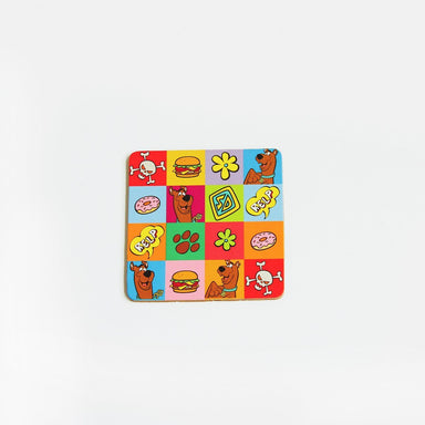 Checked Scooby Cork Coaster Coasters Looney Tune by Meykrs